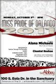 Show Ad | Miss Pride of Orlando | The Abbey (Orlando, Florida) | 10/3/2017