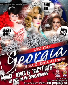Show Ad | Miss Gay Georgia USofA and Miss Gay Georgia USofA at Large | 3/26/2018