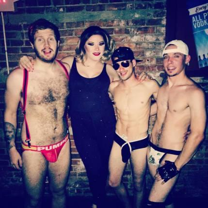 Redd Valentine, Kandy Warhol, Trouble and Trayce Travis