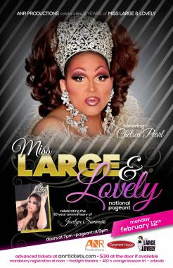 Show Ad   Miss Large and Lovely   Parliament House (Orlando, Florida)   2/12/2018