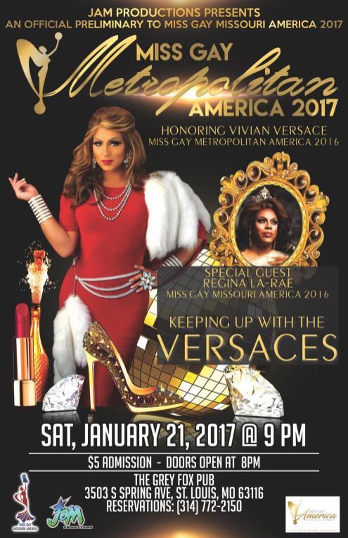 Show Ad | Miss Gay Metropolitan America | The Grey Fox Pub (St. Louis, Missouri) | 1/21/2017