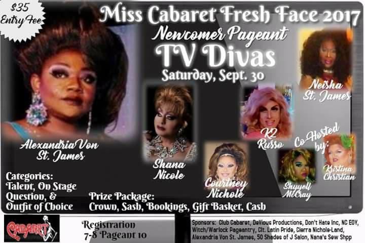 Show Ad | Miss Cabaret Fresh Face | Club Cabaret (Hickory, North Carolina) | 9/30/2017