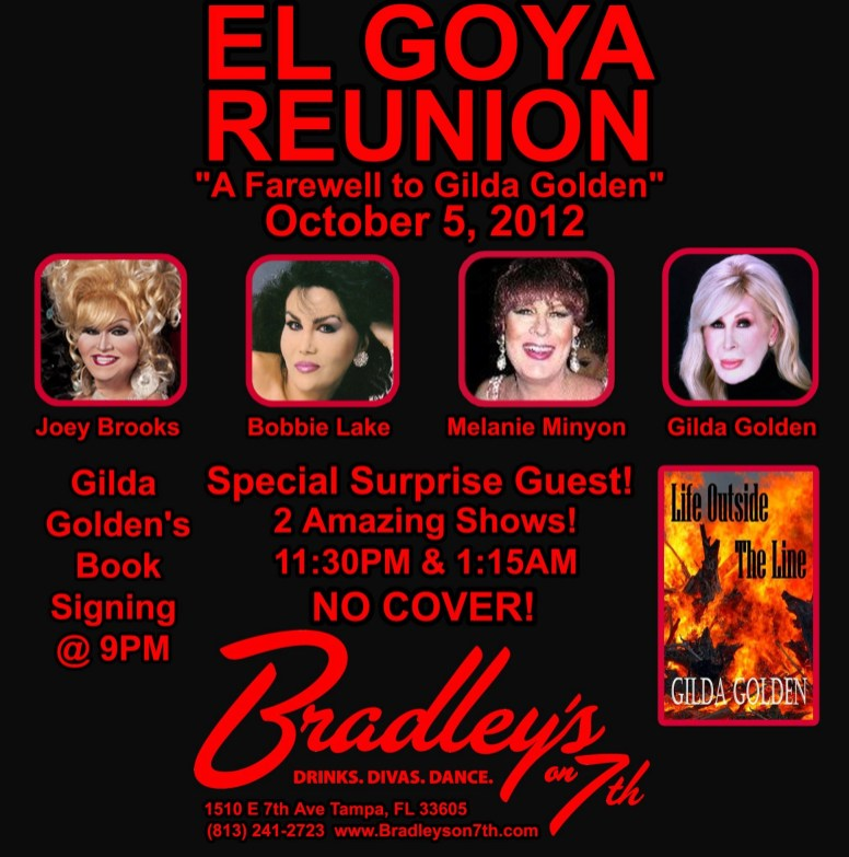 Show Ad | El Goya Reunion | Bradley's on 7th (Tampa, Florida) | 10/5/2012