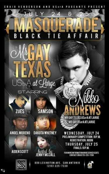 Show Ad | Mr. Gay Texas USofA at Large | Saint (San Antonio, Texas) | 7/24-7/25/2013