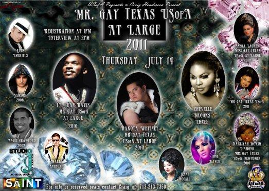 Show Ad   Mr. Gay Texas USofA at Large   The Saint (San Antonio, Texas)   7/14/2011