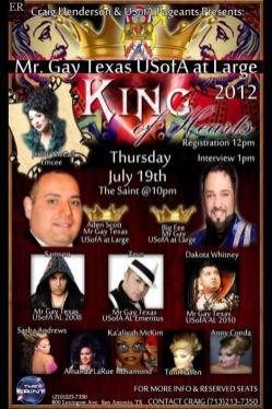 Show Ad   Mr. Gay Texas USofA at Large   The Saint (San Antonio, Texas)   7/19/2012