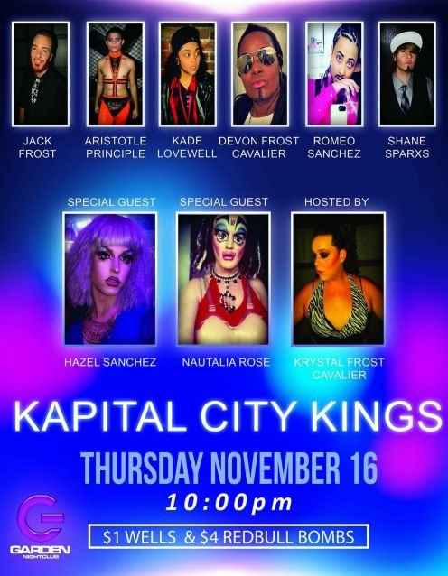 Show Ad | Garden Nightclub (Des Moines, Iowa) | Kapital City Kings | 11/16/2017