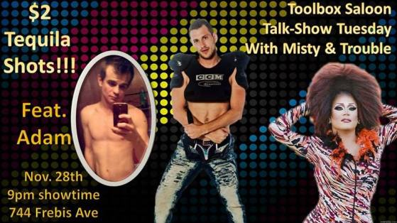 Show Ad | Talk-Show Tuesday with Misty & Trouble | Toolbox Saloon (Columbus, Ohio) | 11/28/2017