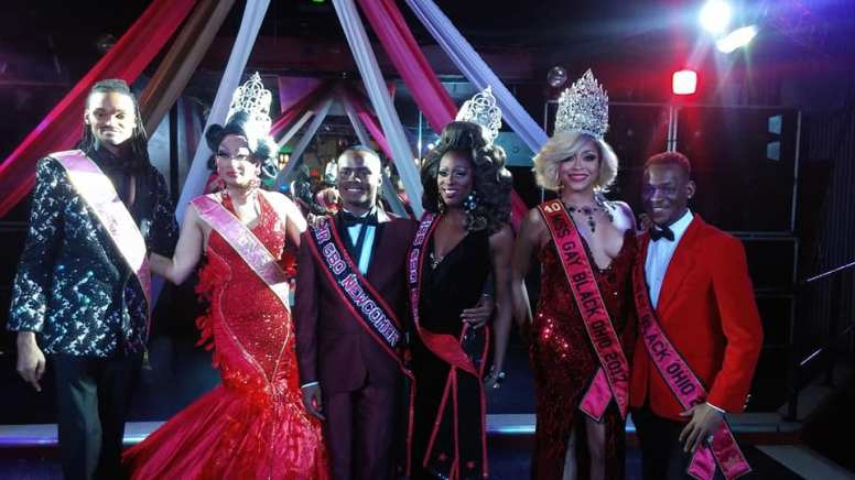 Psych Valentino, Natasshja Norielle, Khai Braxton, Alexis Milan, Solandra Tasaki Dupree and Tevin St. James at Mr and Miss Gay Black Newcomer 2018 pageant.