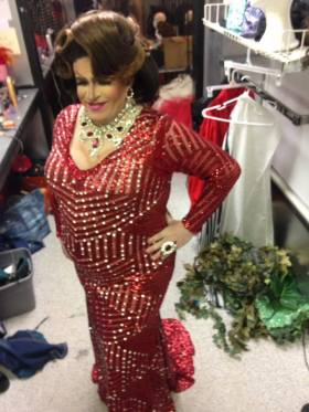 Diedra Windsor Walker in evening gown at Triniti Night Club in Little Rock, Arkansas on the night of March 2nd, 2018 at the Miss Gay Arkansas USofA Classic pageant. Diedra went on to become 1st Alternate in the contest.