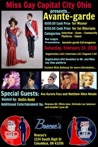 Show Ad | Miss Gay Capital City Ohio | Boscoe's (Columbus, Ohio) | 2/10/2018