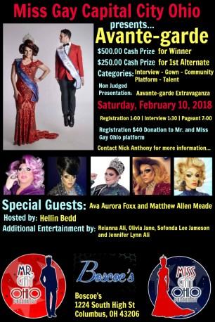 Show Ad   Miss Gay Capital City Ohio   Boscoe's (Columbus, Ohio)   2/10/2018