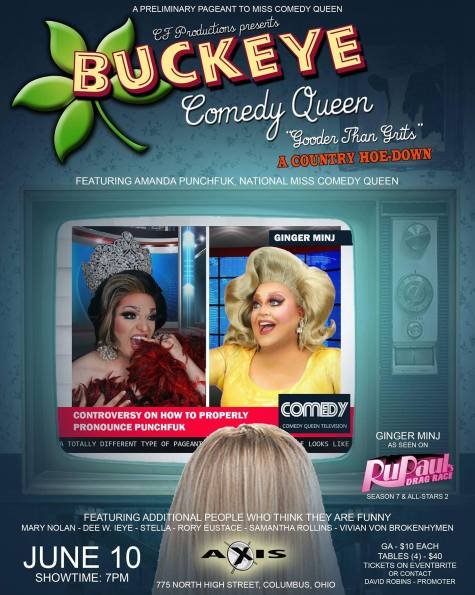 Show Ad   Miss Buckeye Comedy Queen   Axis Night Club (Columbus, Ohio)   6/10/2018