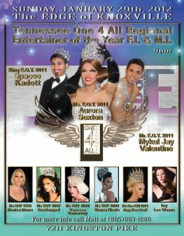 Show Ad | Tennessee One 4 All Entertainer of the Year F.I and M.I. | The Edge (Knoxville, Tennessee) | 1/29/2012