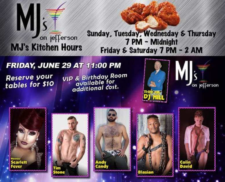 Show Ad | MJ's on Jefferson (Dayton, Ohio) | 6/29/2018