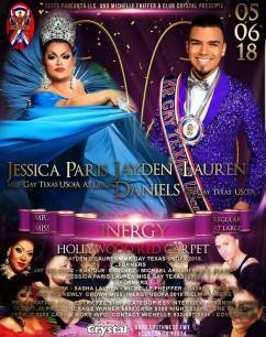 Show Ad | Miss Gay Inergy USofA at Large and Mr. Gay Inergy USofA | Crystal (Houston, Texas) | 5/6/2018