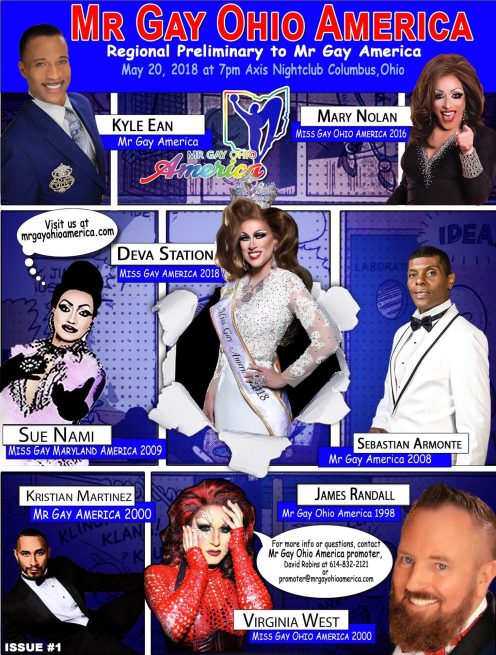 Show Ad | Mr. Gay Ohio America | Axis Night Club (Columbus, Ohio) | 5/20/2018