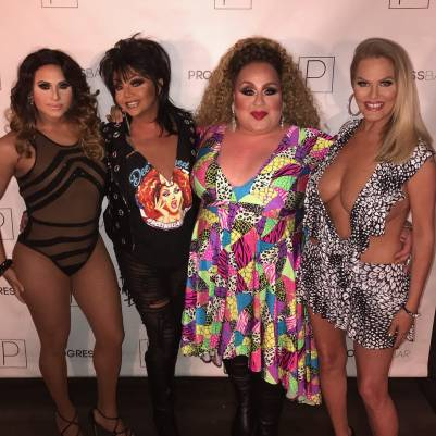 Naysha Lopez, Maya Douglas, Mercedes Tyler and Mimi Marks at Progress Bar (Chicago, Illinois) in July of 2018.