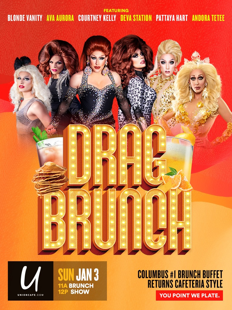 Ad | Drag Brunch | Union Cafe (Columbus, Ohio) | 1/3/2021
