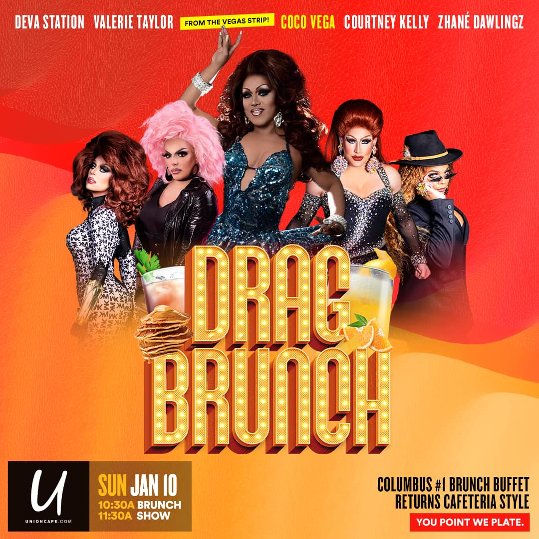 Ad | Drag Brunch | Union Cafe (Columbus, Ohio) | 1/10/2021