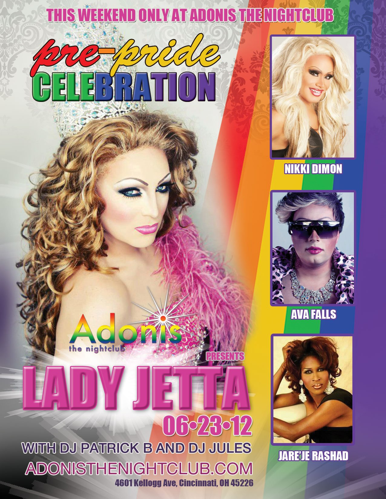 Ad | Adonis the Nightclub (Cincinnati, Ohio) | 6/23/2012