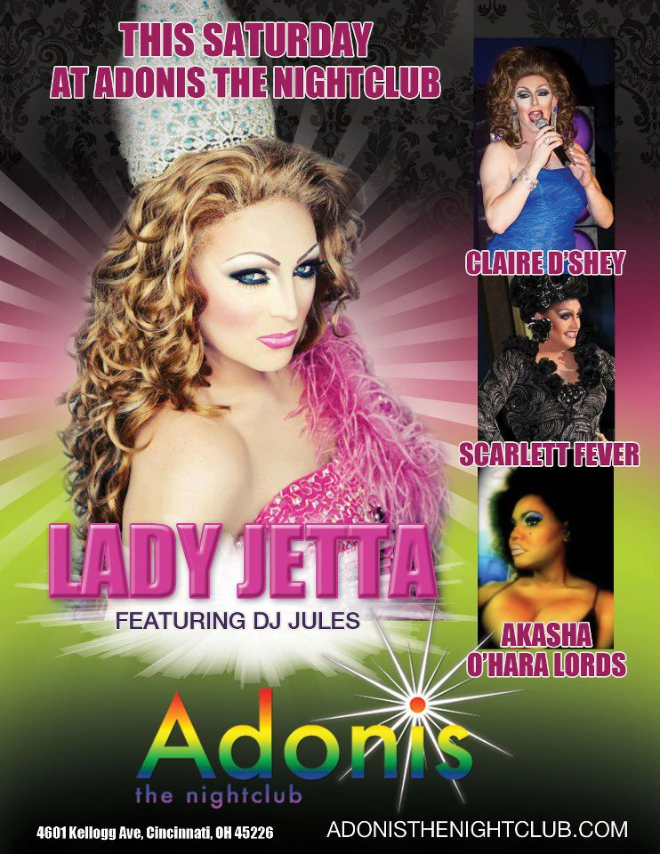 Ad | Adonis the Nightclub (Cincinnati, Ohio) | 9/22/2012