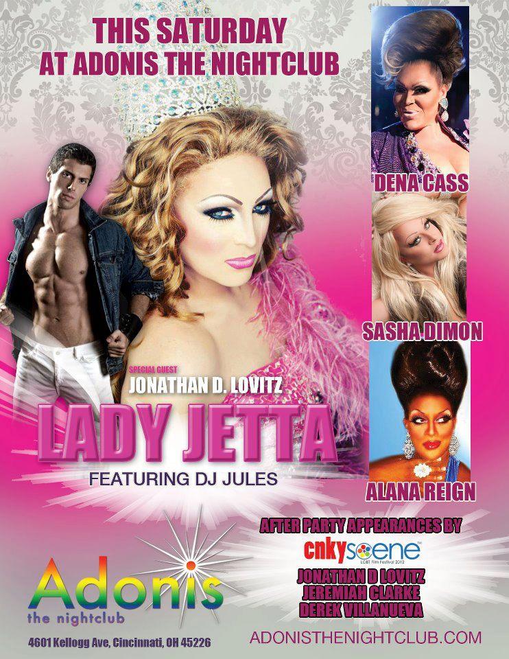 Ad   Adonis the Nightclub (Cincinnati, Ohio)   7/21/2012