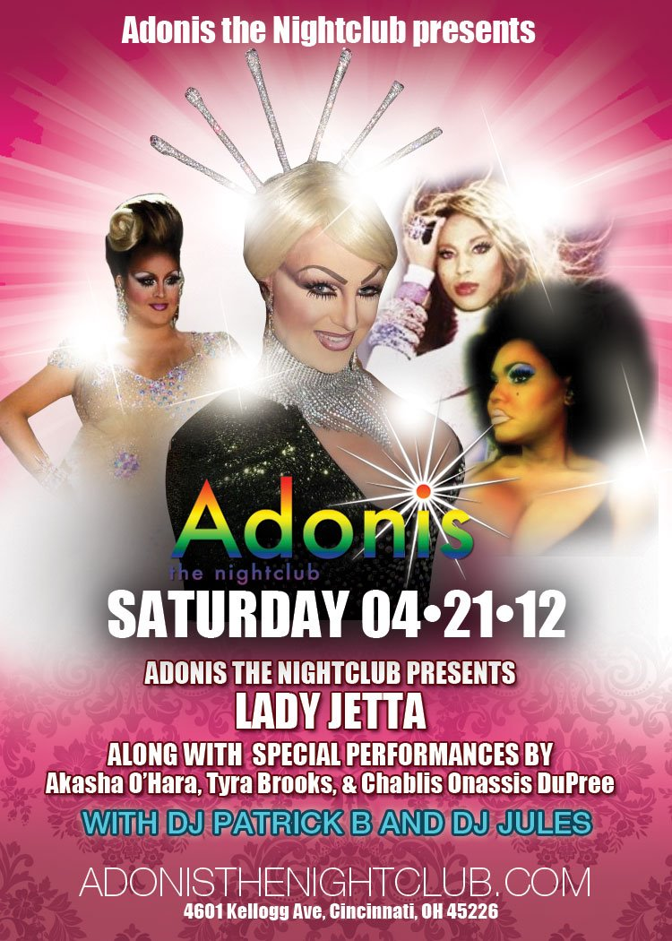 Ad | Adonis the Nightclub (Cincinnati, Ohio) | 4/21/2012