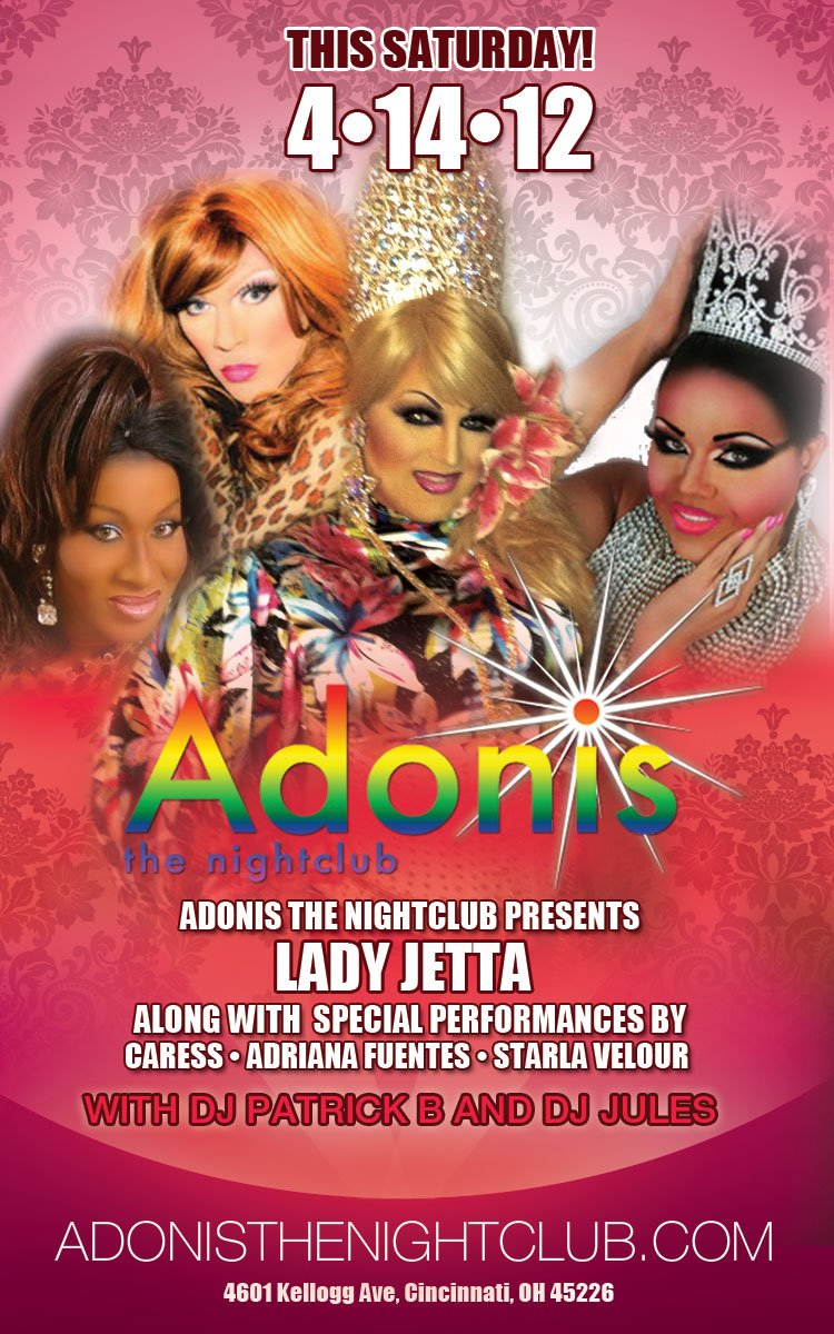 Ad | Adonis the Nightclub (Cincinnati, Ohio) | 4/14/2012