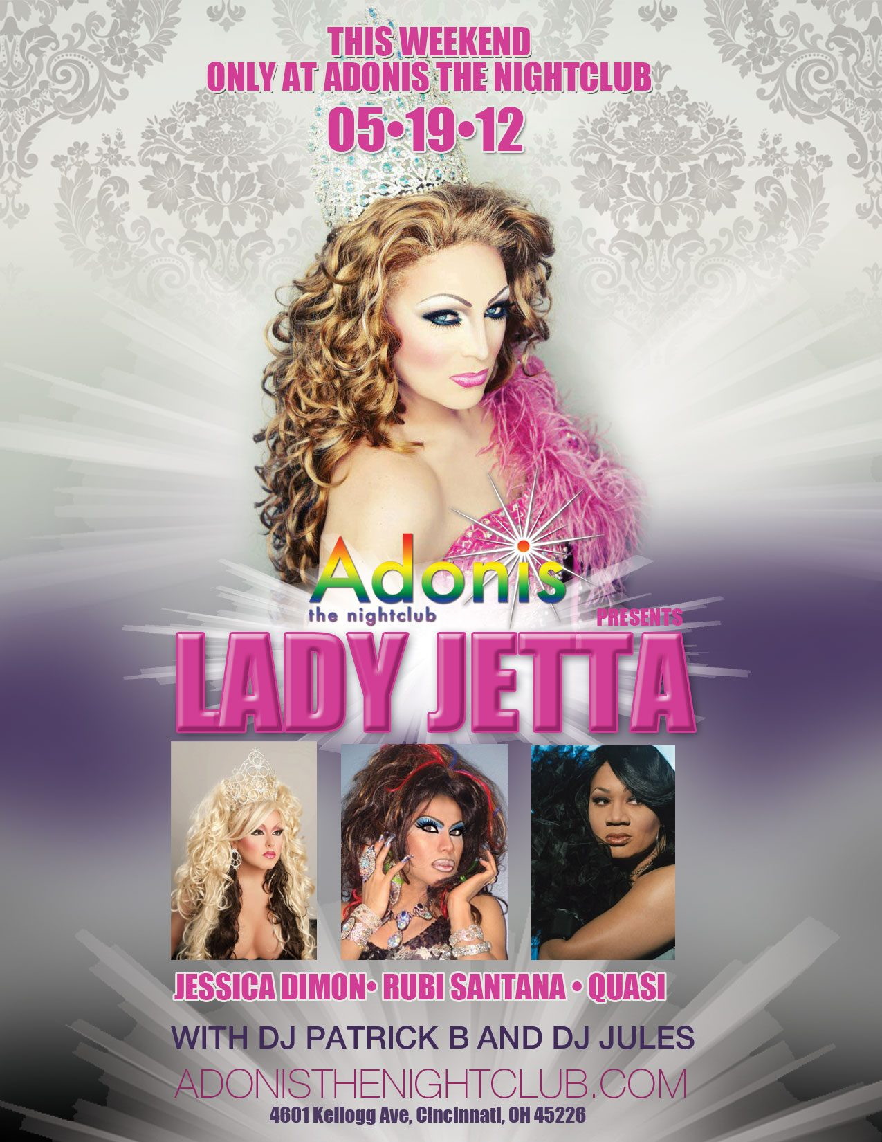 Ad | Adonis the Nightclub (Cincinnati, Ohio) | 5/19/2012