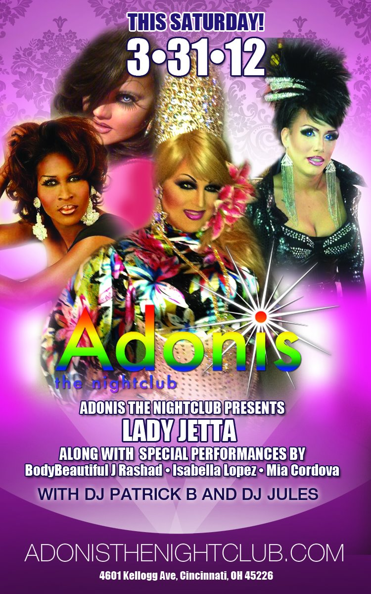 Ad | Adonis the Nightclub (Cincinnati, Ohio) | 3/31/2012