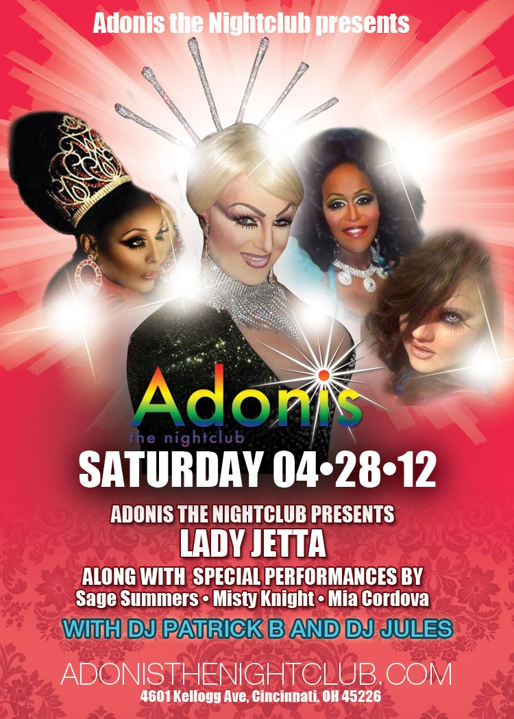Ad | Adonis the Nightclub (Cincinnati, Ohio) | 4/28/2012