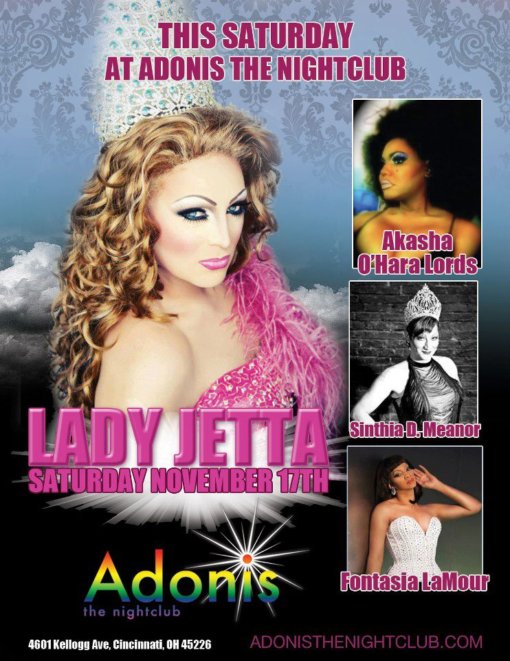 Ad | Adonis the Nightclub (Cincinnati, Ohio) | 11/17/2012