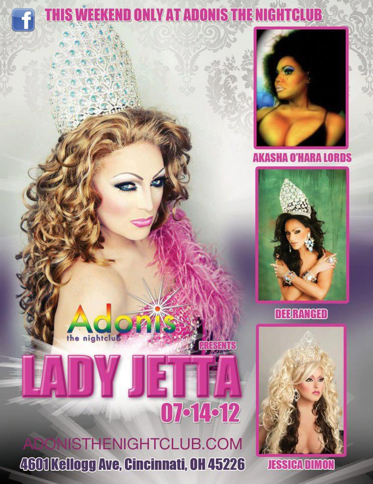 Ad   Adonis the Nightclub (Cincinnati, Ohio)   7/14/2012