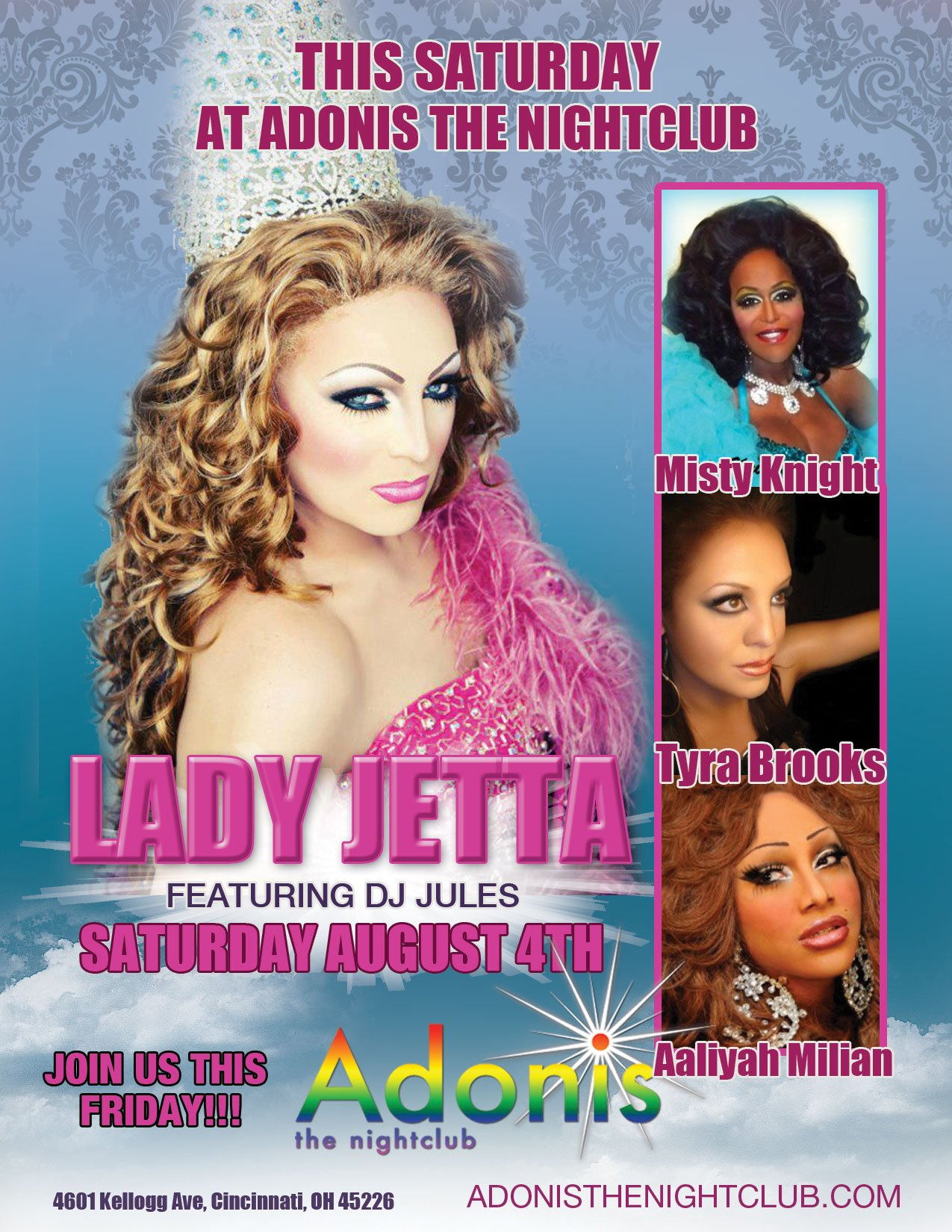 Ad | Adonis the Nightclub (Cincinnati, Ohio) | 8/4/2012