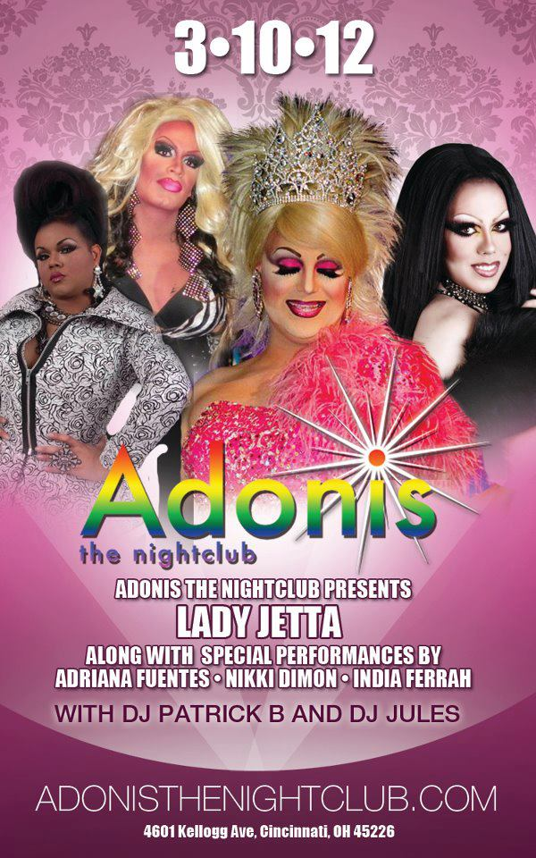 Ad | Adonis the Nightclub (Cincinnati, Ohio) | 3/10/2012