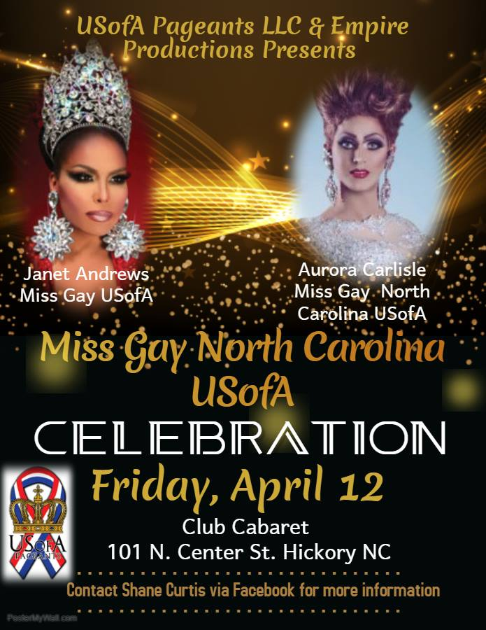 Ad | Miss Gay North Carolina USofA | Club Cabaret (Hickory, North Carolina) | 4/12/2019