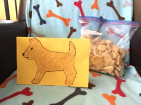 Cute card and yummy treats