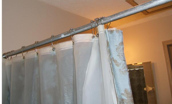 Bathroom Upgrade Canopy Curved Hotel Shower Rod Brushed Nickel Ourcondo