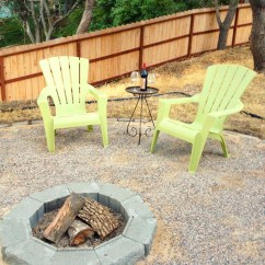 Adirondack Chairs Fire Pit White Wishbone Chair Replica We Made A Our Cone Zone
