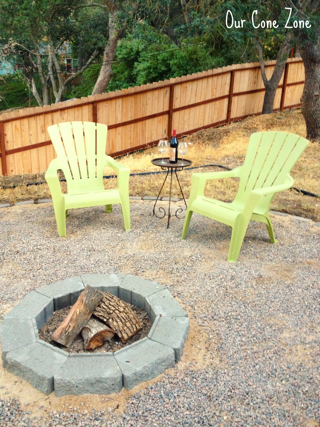 fire pit and adirondack chairs most ergonomic office chair we made a our cone zone