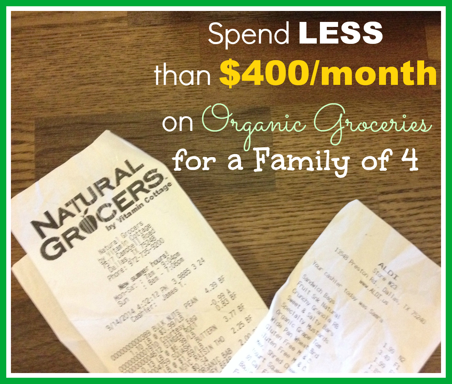 How Our Family Spends Less Than 400 Month On Organic And