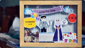 DIY Scrapbook Pigura Invitation