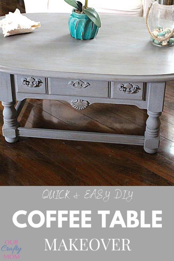 elegant coffee table makeover diy with