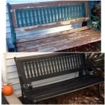 Furniture Refresh Challenge-Garden Bench Makeover