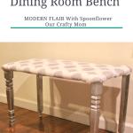DIY Modern Flair Dining Room Bench