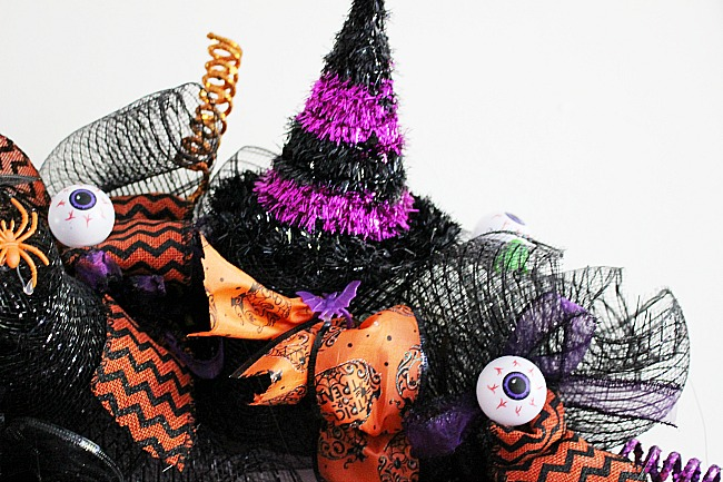 DIY Fun Halloween Witch Wreath Our Crafty Mom