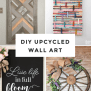 15 Of The Best Upcycled Diy Wall Art Ideas Our Crafty Mom
