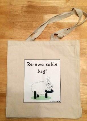Re-ewe-sable canvas bag