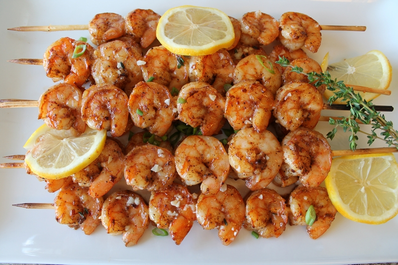 Roasted Shrimp Skewers